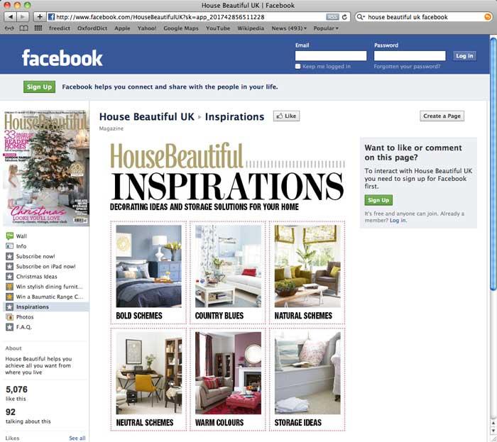 House Beautiful Social Media Red Onion Design