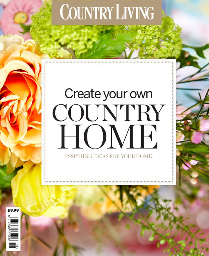 Country Living Bookazine cover flowers background