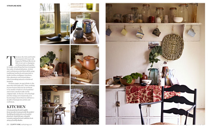 Country Living bookazine layout