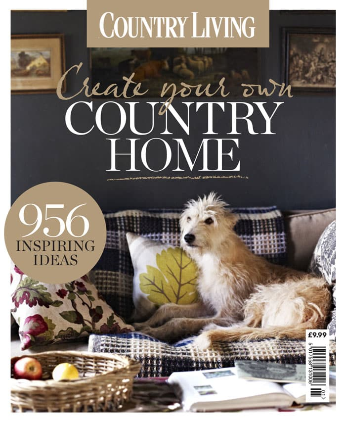 Country Living Bookazine cover dog on sofa