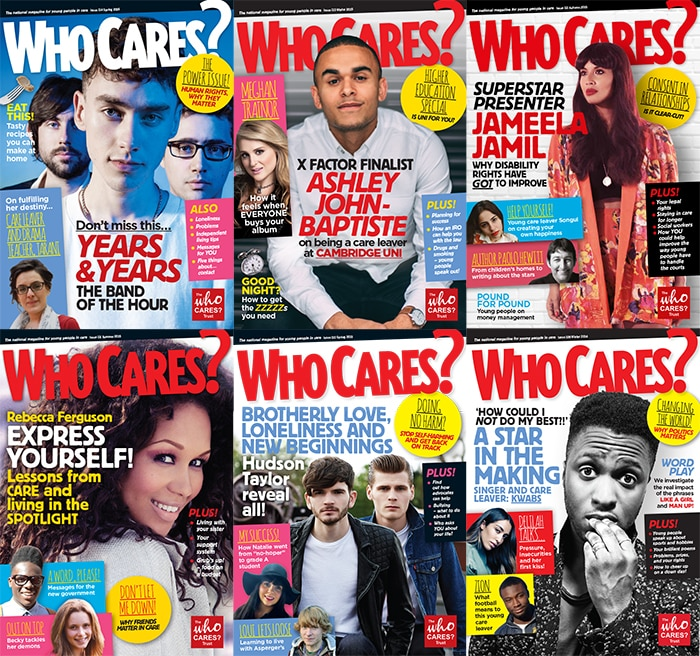Who Cares Magazine covers