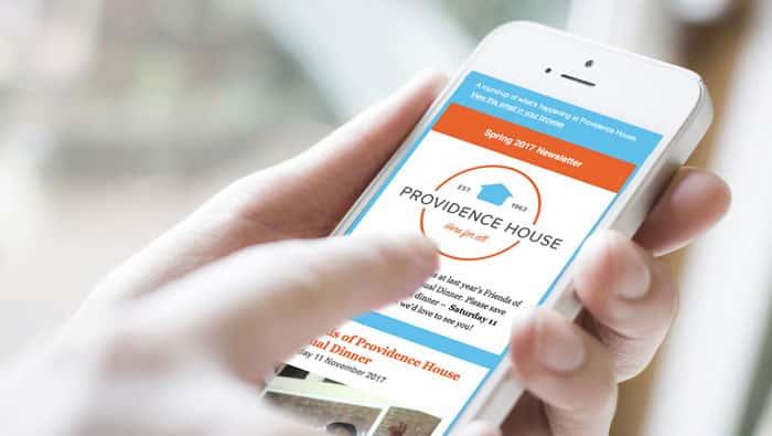 providence newsletter phone screen