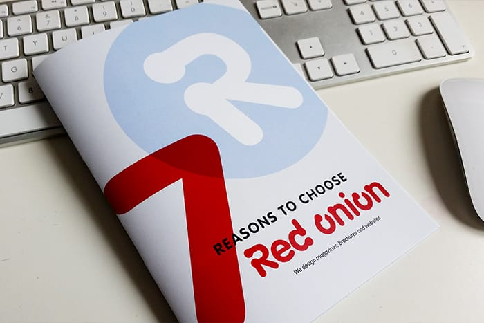 Red Onion brochure printed