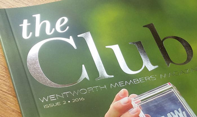 Wentworth Golf Club customer magazine layouts