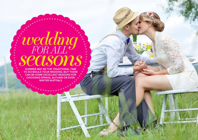 Welsh specialist wedding magazine layout ideas