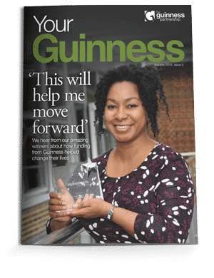 Your Guinness Magazine Cover 2017 holding award