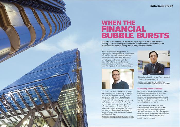 London skyscrapers on spread in brochure