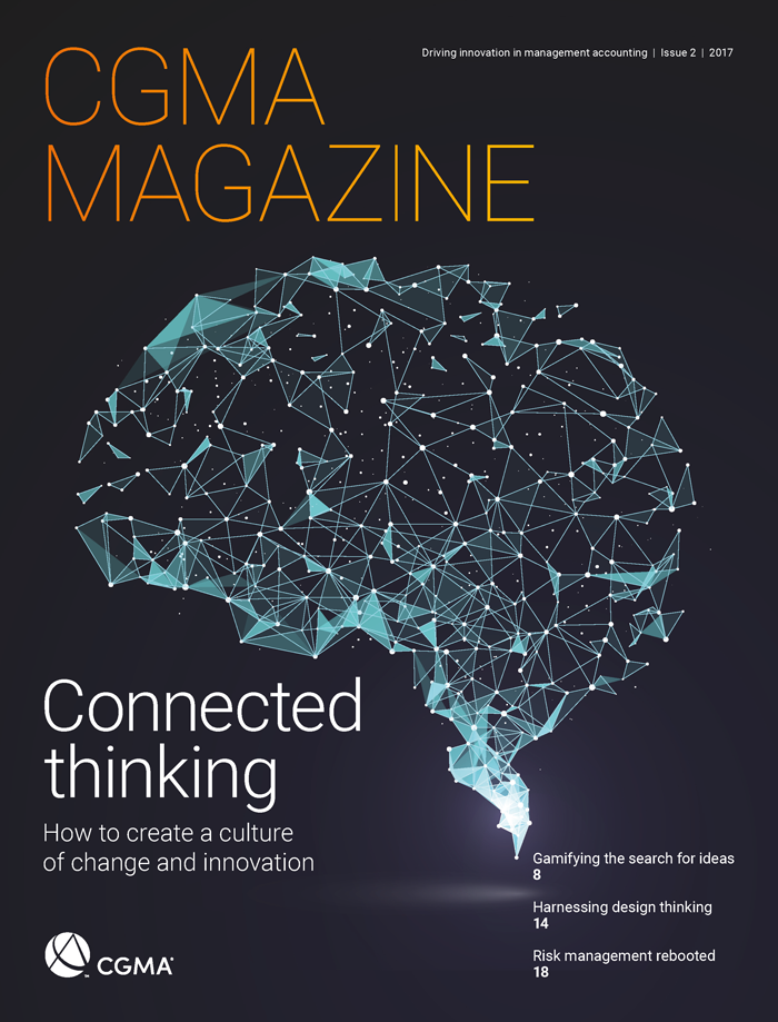 CGMA Magazine Cover 2017 Issue 2 with Brain drawing