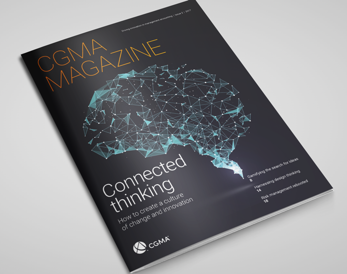 CGMA Magazine Cover 2017 on table