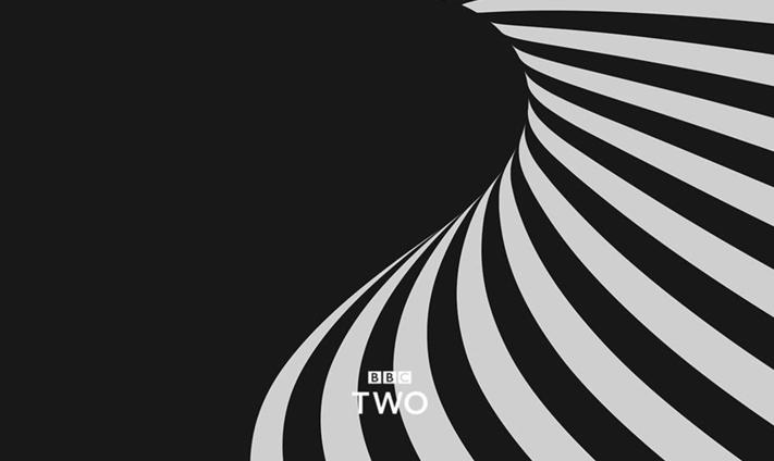 Black and white geometric BBC2