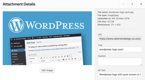 wordpress image screen