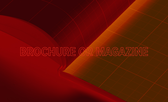 Difference between a brochure and magazine