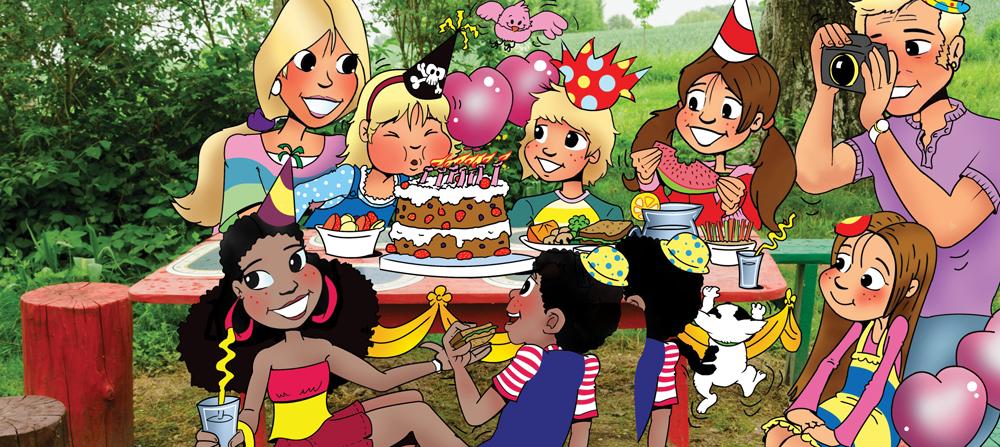 illustration of kids at picnic