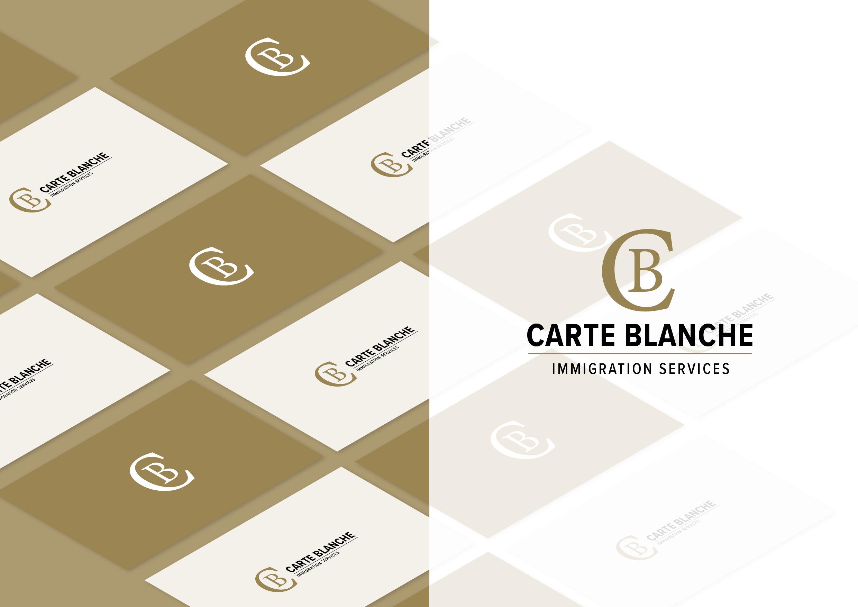 Carte Blanche Logo Gold