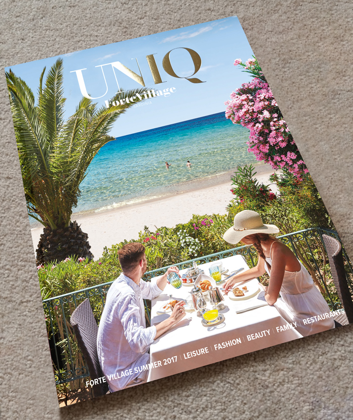 Upmarket Hotel Holiday Magazine Cover