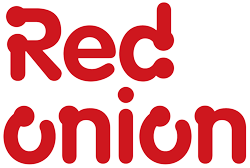 Red Onion logo red decked