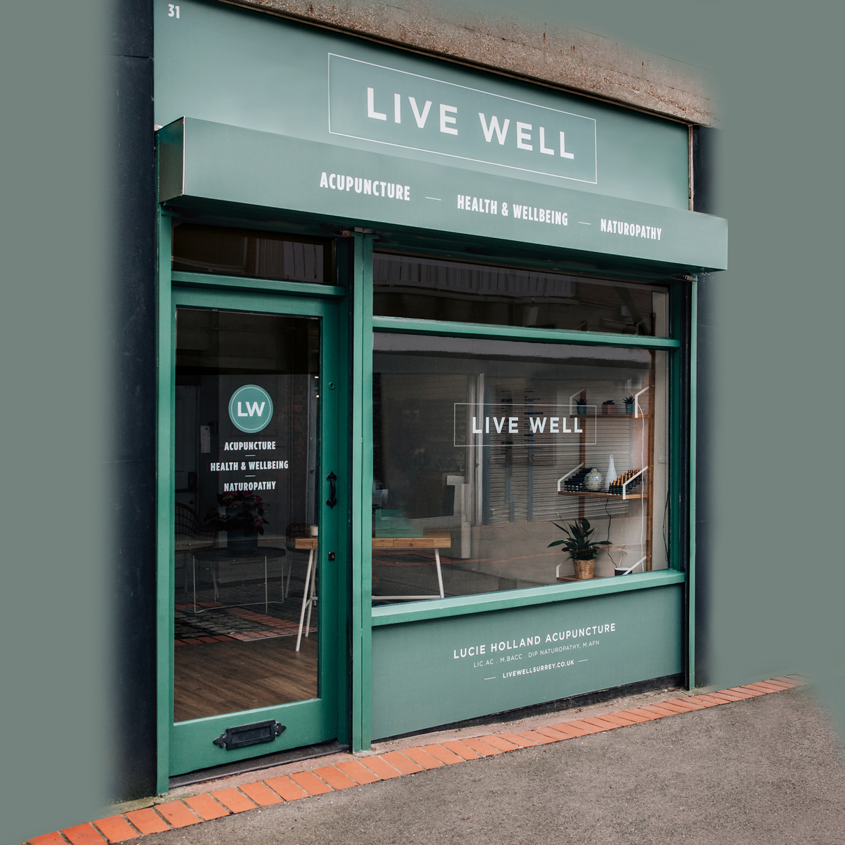 Live Well Surrey Shop Front