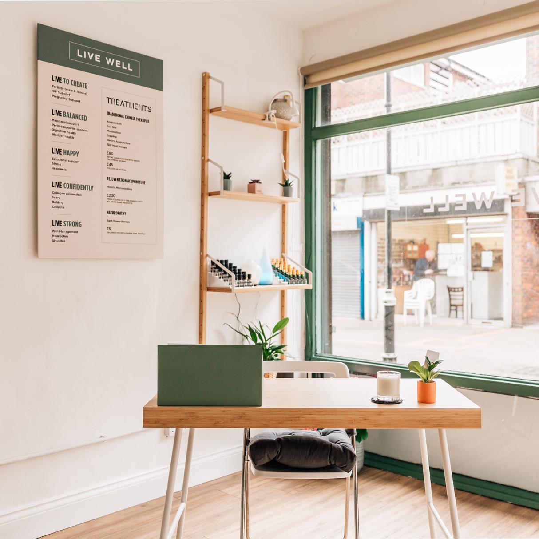 Live Well Surrey Shop Interior