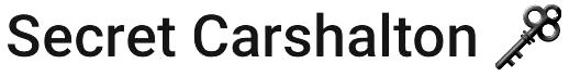Secret Carshalton Logo