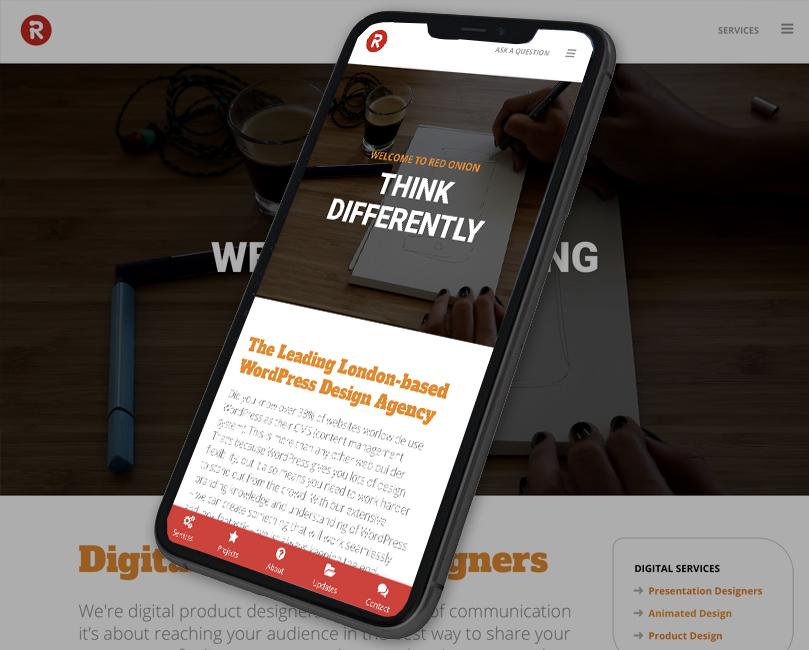 Phone with WordPress image